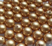 6mm SWAROVSKI® ELEMENTS Vintage Gold Crystal Pearl Beads - 50 pearls for jewellery making, beadwork and craft